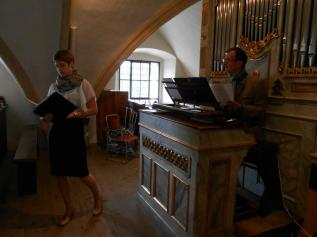 Duet with Clemens Klug (organ), Graz, Austria. July 2012